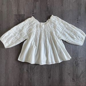 NEW Free People off the shoulder Puff Sleeves Top